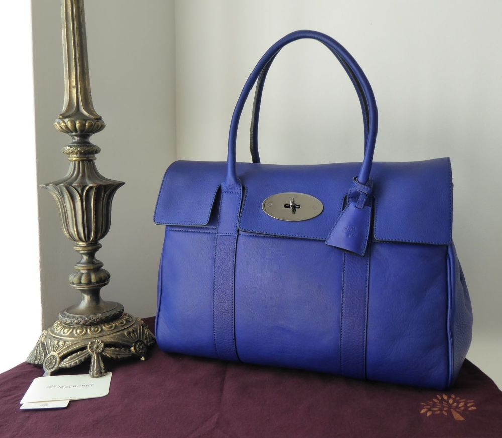 Mulberry Classic Heritage Bayswater in Electric Blue Soft Matte Leather