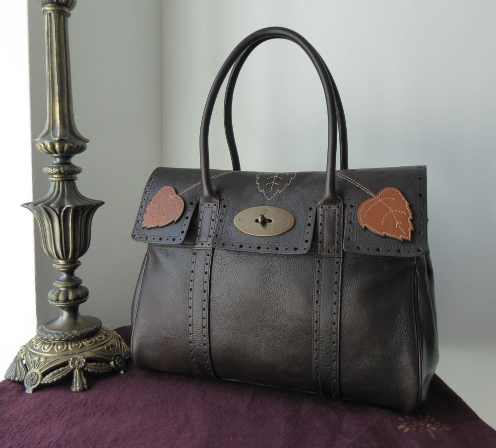 Mulberry Ivy Bayswater in Chocolate & Oak Darwin Leather