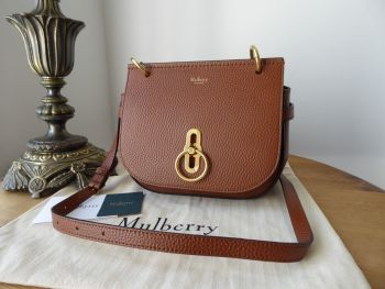 Mulberry Small Amberley Satchel in Oak Grained Vegetable Tanned Leather - New