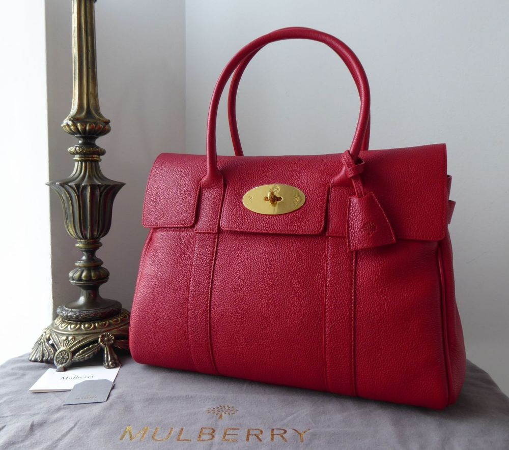Mulberry Classic Heritage Bayswater in Scarlet Small Classic Grain Leather