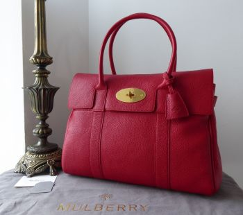 Mulberry Classic Heritage Bayswater in Scarlet Small Classic Grain Leather - New