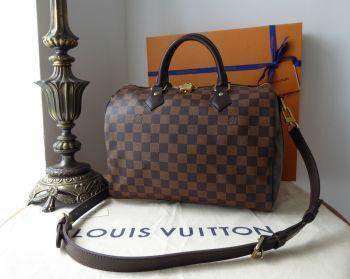 Louis Vuitton Speedy Bandouliere 30 in Damier Ebene