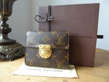 Louis Vuitton Joey Wallet Purse in Monogram Canvas & Crossgrain Leather