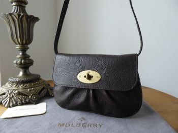 Mulberry Joelle Pochette Shoulder Clutch in Chocolate Vegetable Tanned Leather