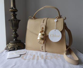 Chloé Aby Day Bag Medium in Blondie Beige Grained Deerskin & Shiny Calfskin - New*