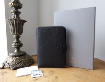Mulberry Kindle Case Folder in Black Natural Vegetable Tanned Leather - New