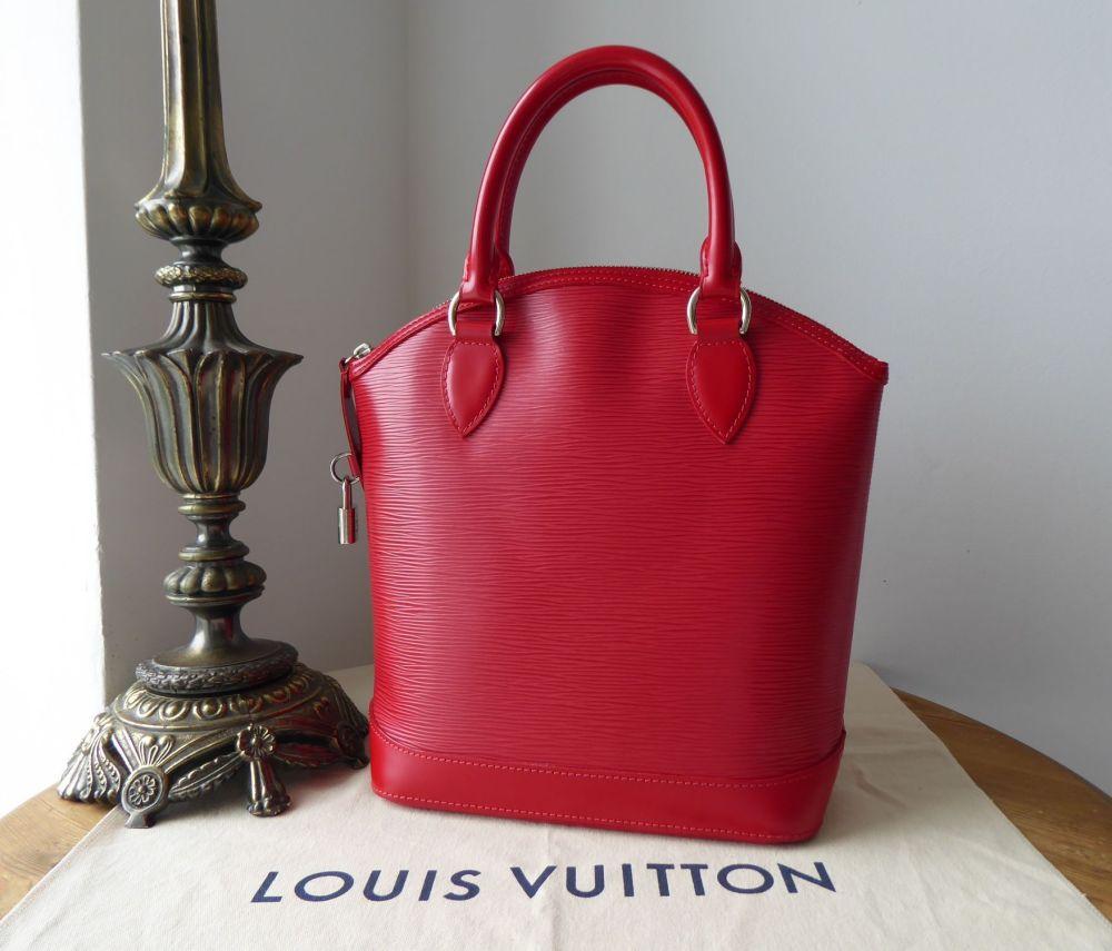 Louis Vuitton Lockit NM Top Handle Bag in Epi Rouge