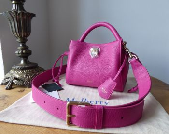 Mulberry Special Edition Mini Iris in Mulberry Pink Heavy Grain Leather - New*