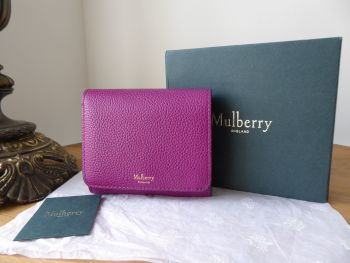 Mulberry Small French Purse Wallet in Violet Small Classic Grain
