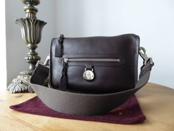Mulberry Somerset Small Shoulder Bag in Chocolate Natural Leather
