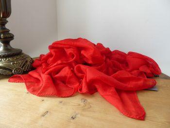 Alexander McQueen All Red Skull Scarf Wrap in Summer DevoreJacquard Silk Modal Mix - New