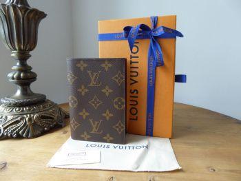 Louis Vuitton Passport Cover in Monogram with Dark Burgundy Crossgrain Lining  - New