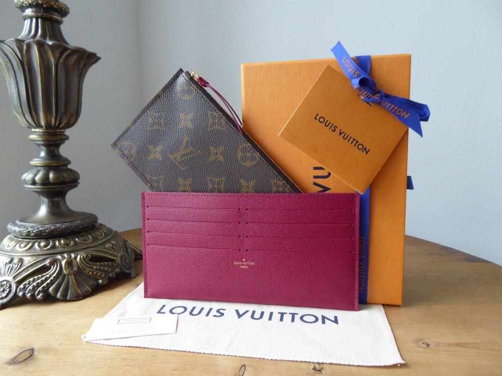 Louis Vuitton Félicie Two Insert Pouches in Monogram Fuchsia - New