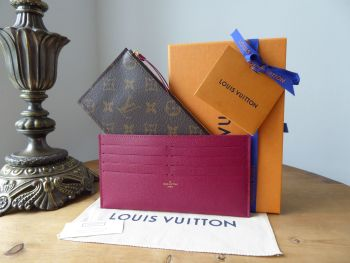 Louis Vuitton Two Insert Pouches in Monogram Fuchsia from Félicie GM - New