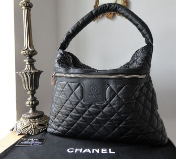 Chanel Large Coco Cocoon Shoulder Hobo in Black Quilted Lambskin - SOLD