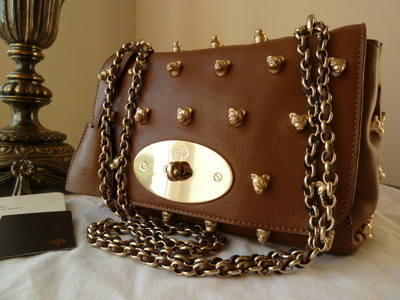 Mulberry Lily Teddy Rivets in Soft Matte Oak Leather - SOLD