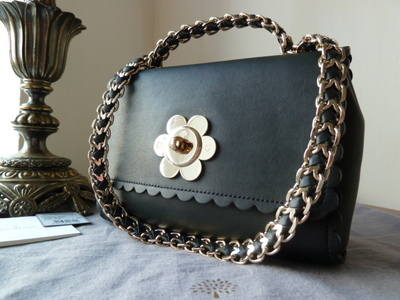 Mulberry Cecily Flower in Black Classic Calf Leather