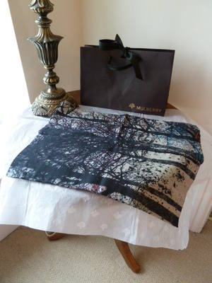 Mulberry Abstract Trees Multi Wrap / Scarf - SOLD