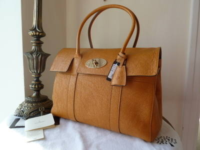 Mulberry Bayswater in Sycamore Grainy Patent - New