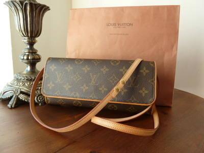 Louis Vuitton Twin Pochette Monogram Shoulder Messenger Bag - SOLD