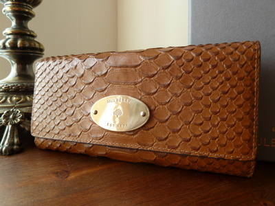 Mulberry Continental Purse in Oak Silky Snake Printed Leather - SOLD