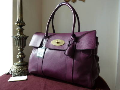 Mulberry Bayswater in Rouge Noir Pebbled Leather - SOLD