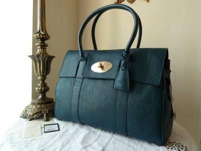 Mulberry Bayswater in Petrol Vegetable Tanned Lambskin - SOLD