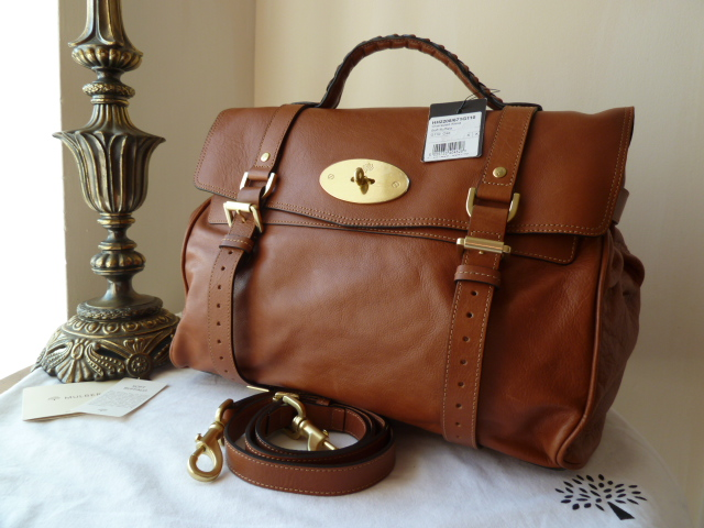 Mulberry Oversized Alexa in Oak Buffalo Leather - New