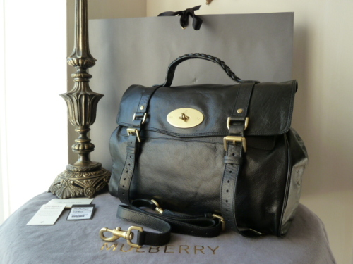 Mulberry Oversized Alexa in Black Buffalo Leather - New