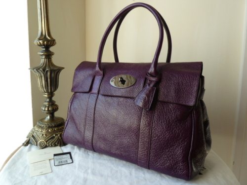 Mulberry Bayswater in Red Onion Pebbled Patent Leather - SOLD