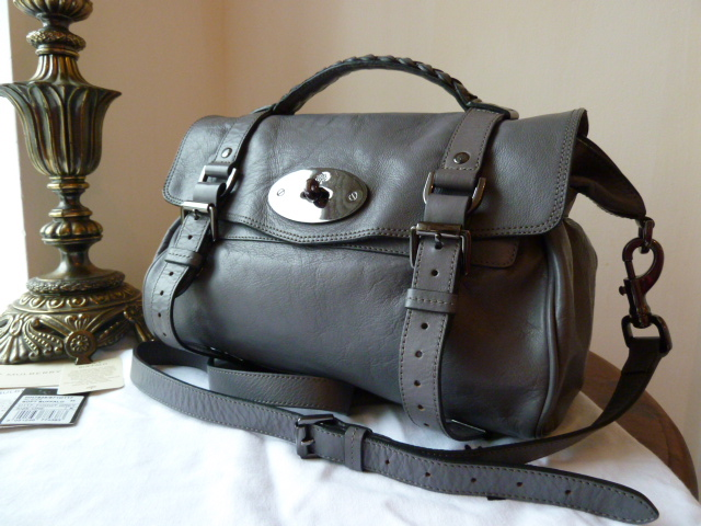 Mulberry Regular Alexa in Foggy Grey Soft Buffalo Leather -Sub