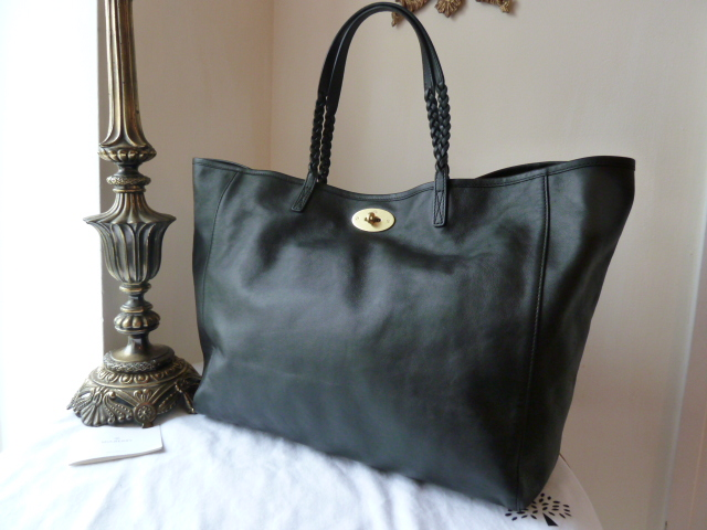 Mulberry Large Dorset Tote in Black Forest Soft Nappa Leather - SOLD