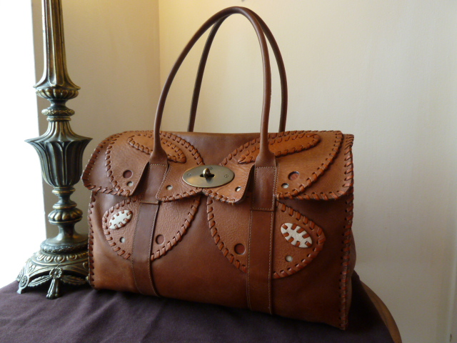 Mulberry Bayswater in Oak Tooled Darwin Leather