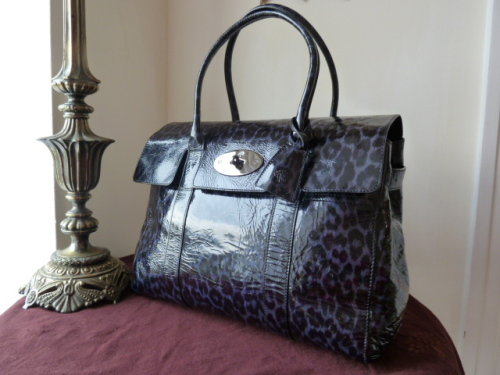 Mulberry Bayswater in Putty Smudged Leopard Print Patent Leather - SOLD