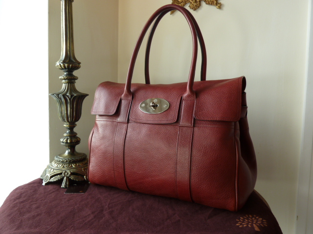 Mulberry Bayswater Special in Claret Natural Leather