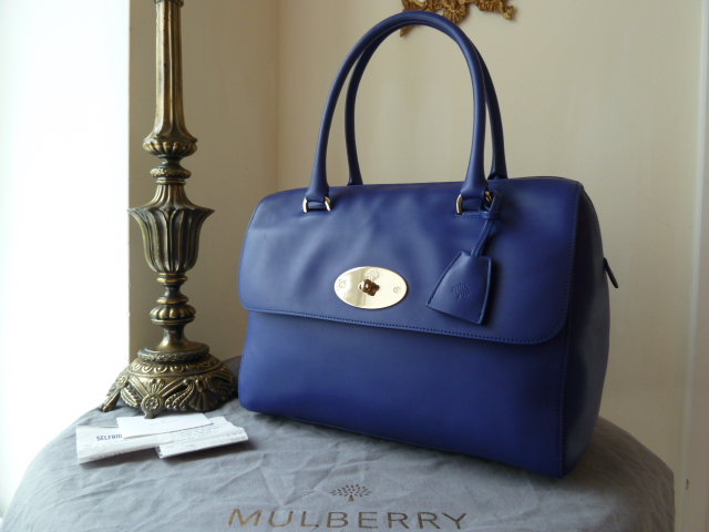 Mulberry Del Rey (large) in Cosmic Blue Polished Calf - As New