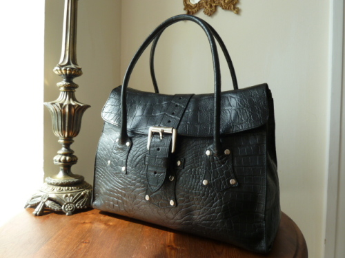 Mulberry Brompton in Black Kenya Leather - SOLD