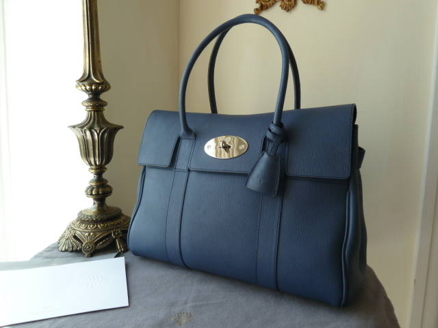 Mulberry Bayswater Slate Blue Grainy Print