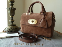 Mulberry Del Rey in Milk Chocolate Suede