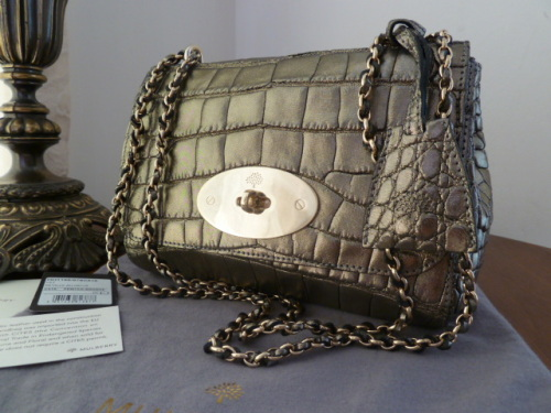 Mulberry Lily in Metallic Alligator Leather. RRP £7,000 - New