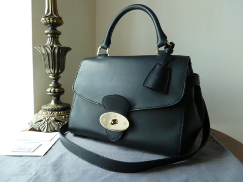 Mulberry Primrose in Black Polished Calf