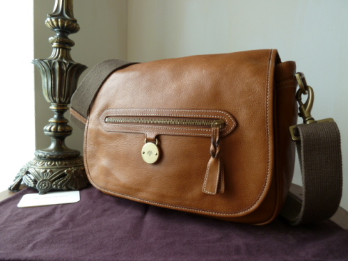 Mulberry Somerset Despatch Satchel in Oak Tumbled Leather - SOLD