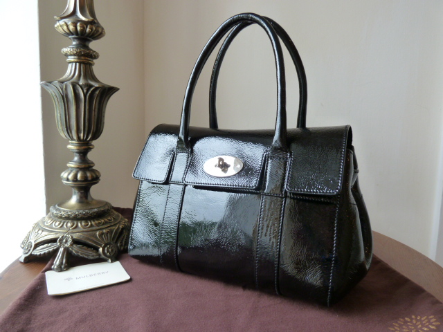Mulberry Bayswater in Black Drummed Patent Leather - SOLD