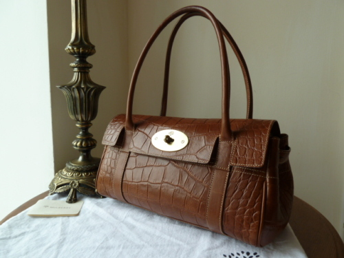 Mulberry East West Bayswater in Oak Printed Leather
