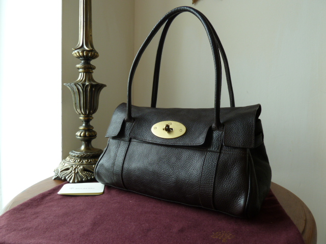 Mulberry East West Bayswater in Chocolate Natural Leather - SOLD