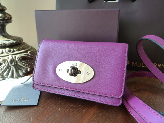 Mulberry Postmans Lock Mini Messenger for iPhone in Forest Fruits Soft Napp
