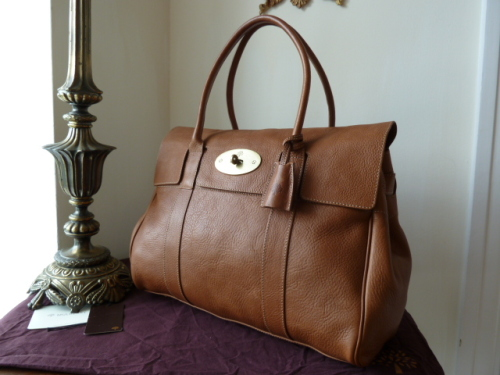 Mulberry Bayswater in Oak Natural Leather