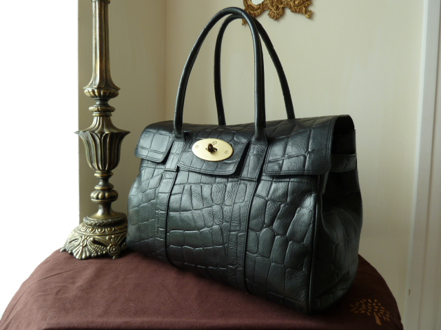 Mulberry Bayswater Special in Black Printed Leather - SOLD