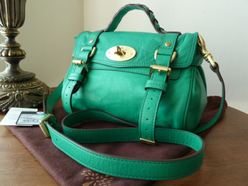 Mulberry Mini Alexa in Bright Cabbage Soft Buffalo  - SOLD