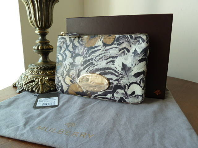 Mulberry Zip Pouch Feathered Friends NEW